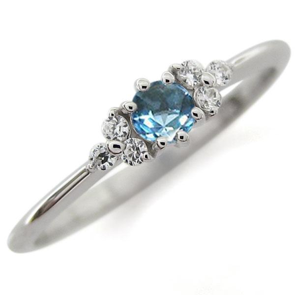 プラチナ ブルートパーズ ピンキー ファランジリング 指輪キー ファランジリング 指輪