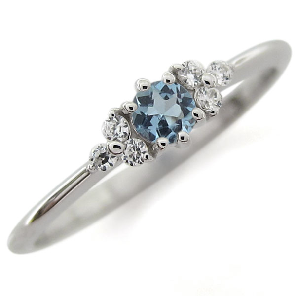 アクアマリンサンタマリア プラチナ ピンキー ファランジリング 指輪キー ファランジリング 指輪