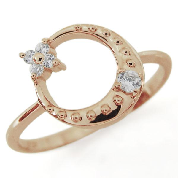 星・月・モチーフ・ダイヤモンド・リング・18金・指輪