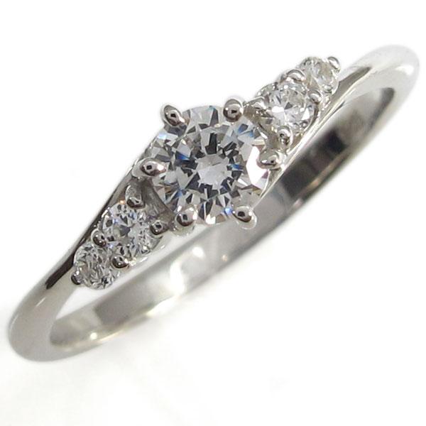 プラチナ ダイヤモンドリング 鑑定書 SIクラス シンプル 指輪