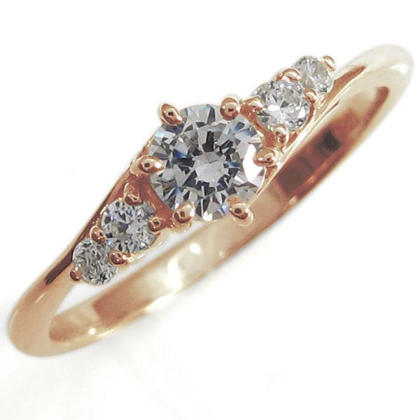 ダイヤモンドリング シンプルリング K10 指輪 一粒