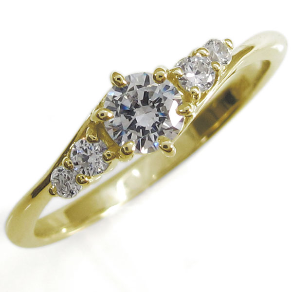 ダイヤモンド・指輪・シンプルリング・上品・18金・リング