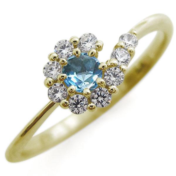 結婚10周年 ブルートパーズ リング 結婚記念日 指輪 メモリアルリング