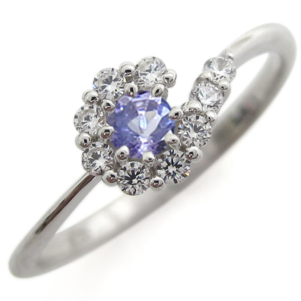 【10%OFF】4日20時~ 指輪 レディース 誕生石 12月 タンザナイト シルバーリング 結婚10周年