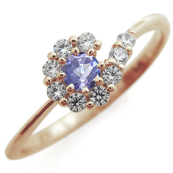 9/11 1:59迄タンザナイト ブライダルリング 取り巻き 婚約指輪 結婚10周年 K10