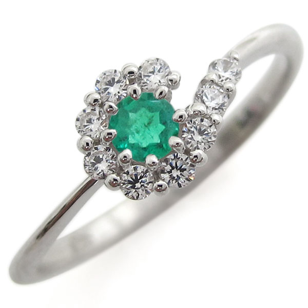 【10%OFFクーポン】5日23:59迄 指輪 レディース 誕生石 5月 エメラルド シルバーリング 結婚10周年