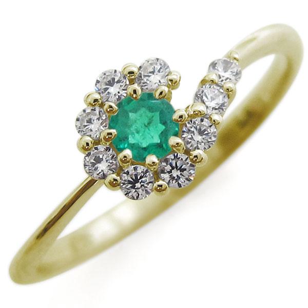 新発売の 結婚10周年 エメラルド リング 結婚記念日 指輪 メモリアルリング, シープウィング d4f69929