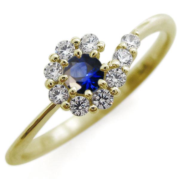 結婚10周年 サファイア エンゲージリング 結婚記念日 婚約指輪 メモリアルリング