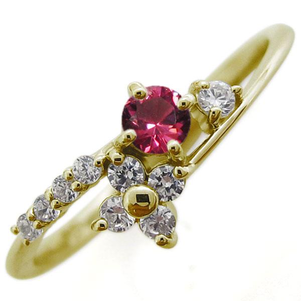【10%OFF】4日20時~ ルビー・ブライダルリング・結婚10周年・指輪・18金・リング