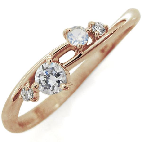ダイヤモンドリング・シンプルリング・指輪・エレガント・10金