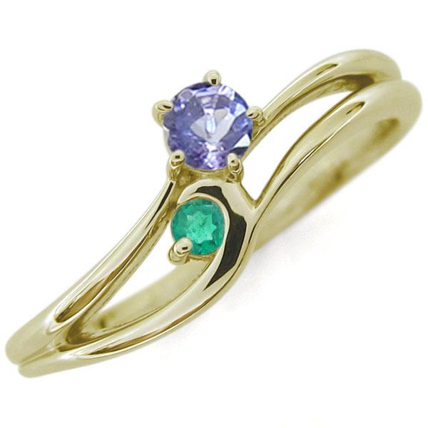 タンザナイト シンプルリング レディースリング K10 婚約指輪 母の日 プレゼント