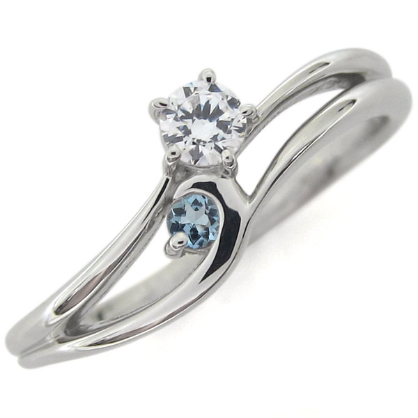 プラチナ ライン リング 指輪 ダイヤモンドリング シンプル