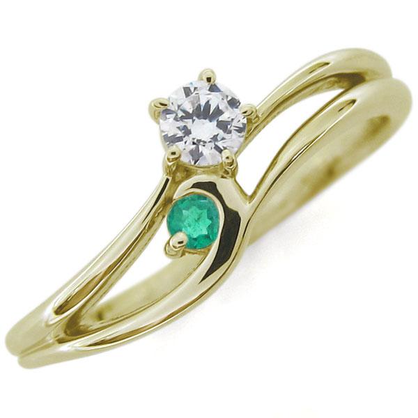 9/11 1:59迄ダイヤモンド シンプルリング レディースリング K10 婚約指輪