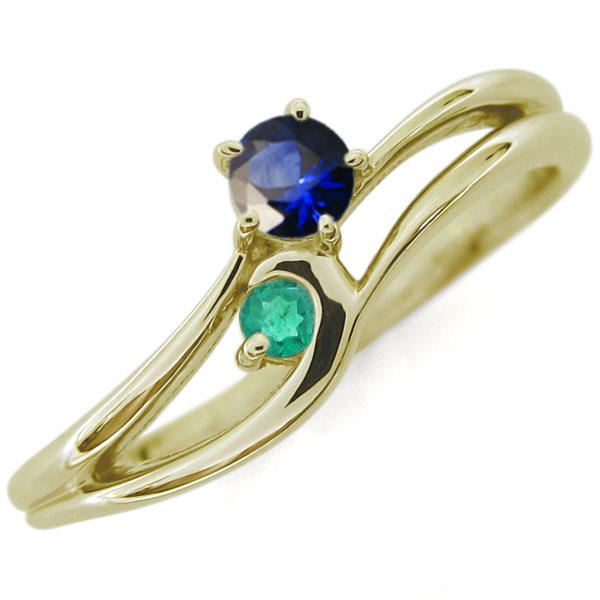 プレゼント ジュエリー サファイア シンプルリング レディースリング K10 指輪 母の日 プレゼント