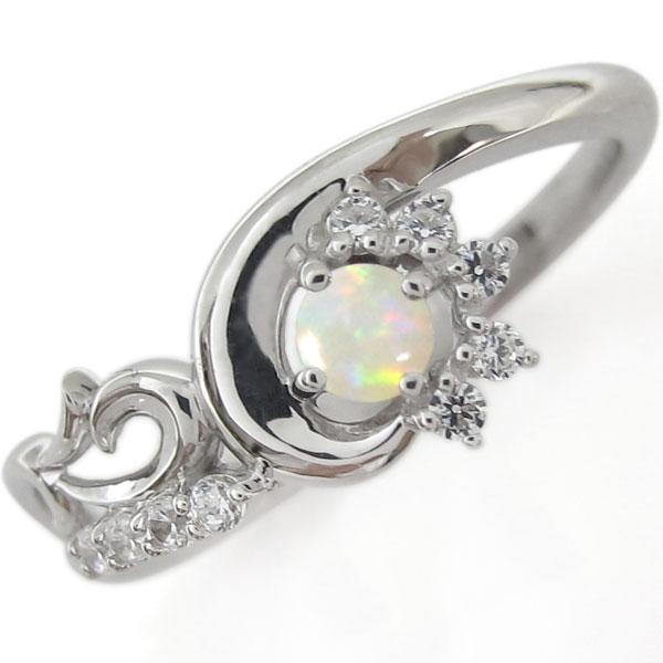 プラチナリング・メモリアルリング・結婚10周年・オパール・指輪