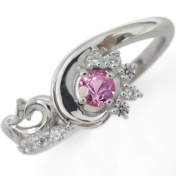 プラチナリング・メモリアルリング・結婚10周年・ピンクサファイア・指輪