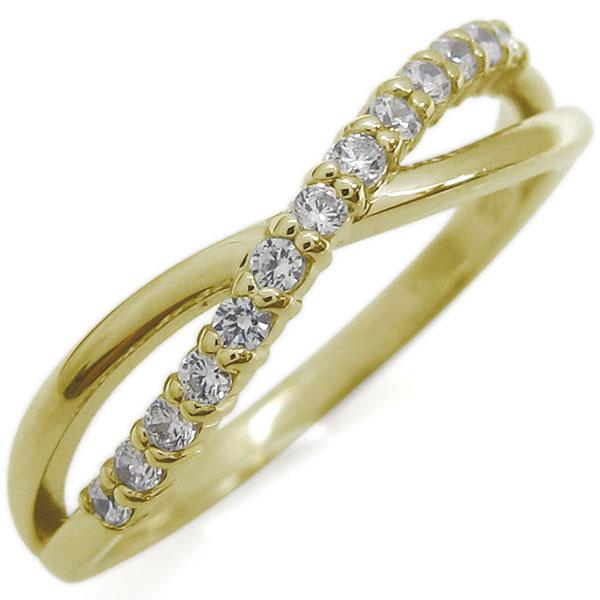 9/11 1:59迄ダイヤモンドリング シンプル 指輪 ピンキーリング 10金