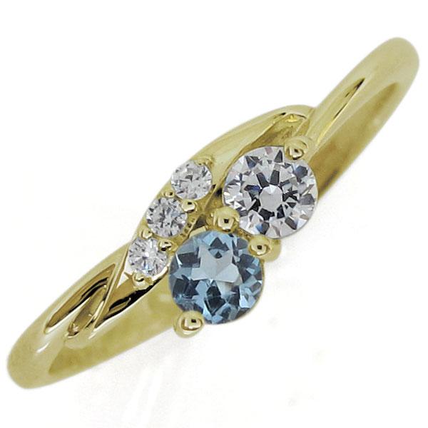 シンプルリング ダイヤモンド 指輪 10金 リング 上品