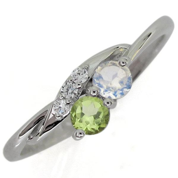 プラチナリング ロイヤルブルームーンストーン エンゲージリング シンプル 婚約指輪
