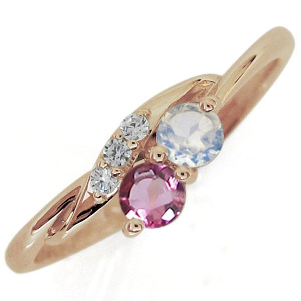 9/11 1:59迄シンプル ロイヤルブルームーンストーン エンゲージリング 婚約指輪 K18 プレゼント レディース
