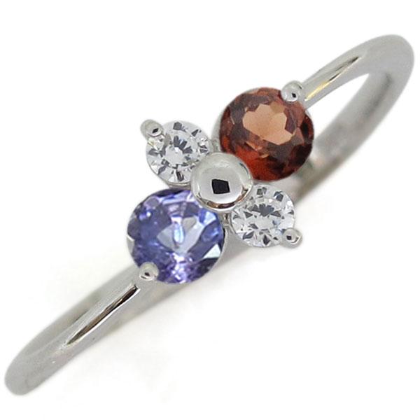 プラチナ ガーネット 指輪 シンプルリング レディース 母の日 プレゼント