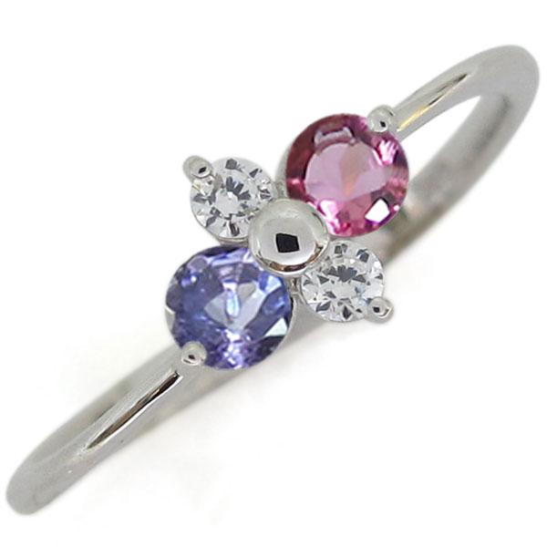 プラチナ ピンクトルマリン 婚約指輪 シンプルリング レディース 母の日 プレゼント
