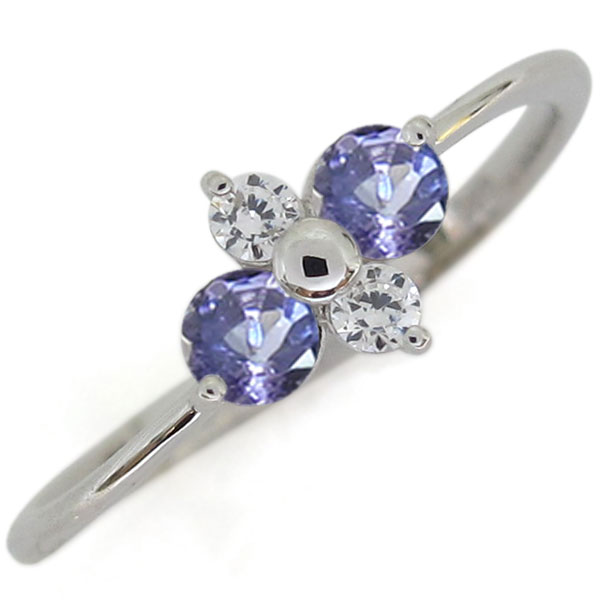 プラチナ タンザナイト 婚約指輪 シンプルリング レディース 母の日 プレゼント