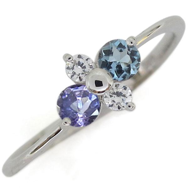 プラチナ アクアマリンサンタマリア 婚約指輪 シンプルリング レディース 母の日 プレゼント