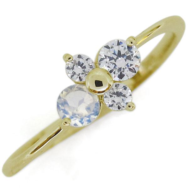 シンプルリング ダイヤモンドリング エレガント K18 指輪