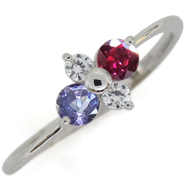 プラチナ ルビー 指輪 シンプルリング レディース 母の日 プレゼント