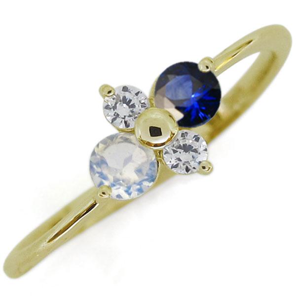 シンプルリング サファイアリング エレガント K18 指輪