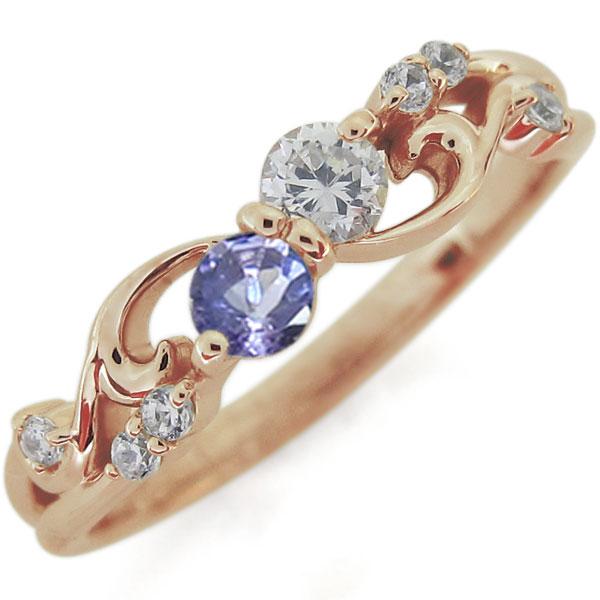 エンゲージリング ダイヤモンド 婚約指輪 唐草 リング 10金
