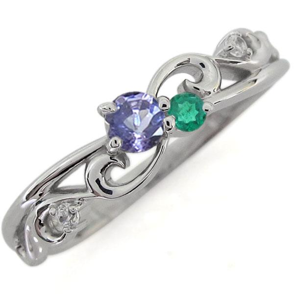 プラチナ アラベスク エンゲージリング タンザナイト 唐草 婚約指輪