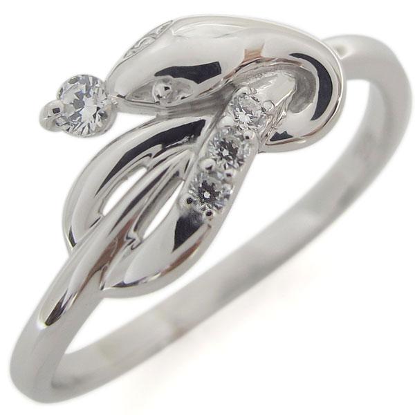 プラチナ ファランジリング ダイヤモンド ヘビ 指輪 ピンキー