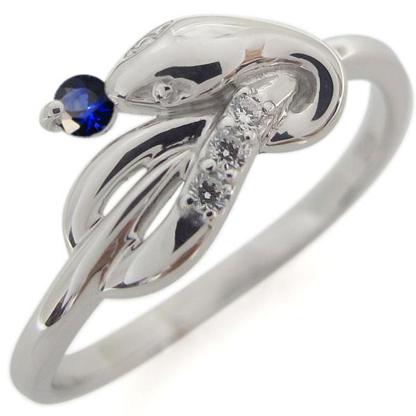 プラチナ ファランジリング サファイア ヘビ 指輪 ピンキー