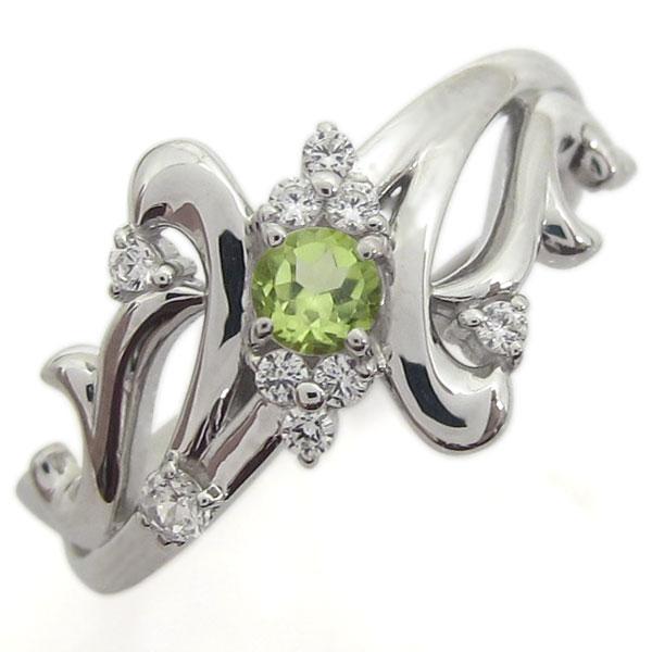結婚記念日 プラチナリング ペリドット 指輪 メモリアルリング