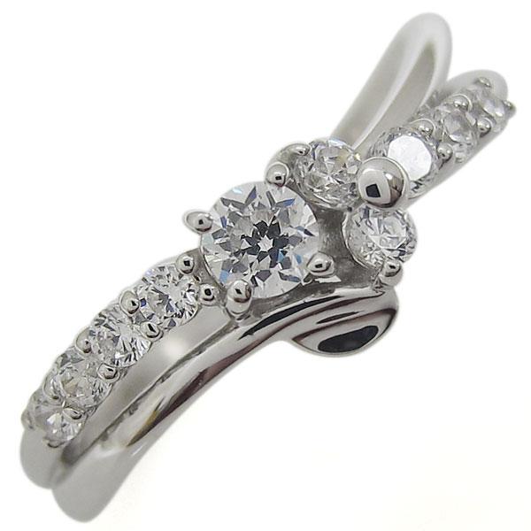 【おまけ付】 プラチナリング 結婚10周年 ダイヤモンド 指輪 V字 メモリアルリング, 長門町 bd0e7360
