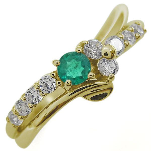 18日23:59迄 結婚10周年 メモリアルリング 誕生石 リング Vラインリング 指輪