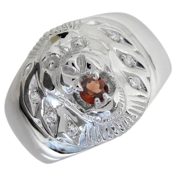 送料無料 ガーネット プラチナ 百獣の王 指輪 ライオンリング プラチナ ガーネットリング ライオンリング 指輪 百獣の王