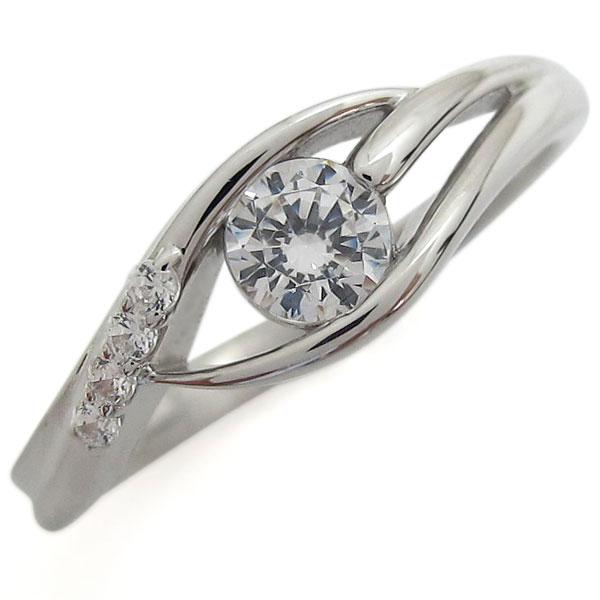 鑑定書 プラチナ SI ダイヤモンドリング エンゲージ 婚約指輪