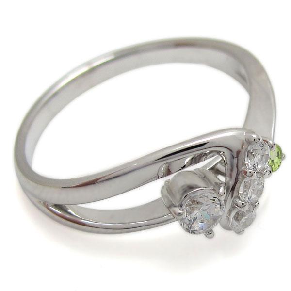 インフィニティ リング ダイヤモンド 婚約指輪 K10 エンゲージリングLqR5A3c4jS