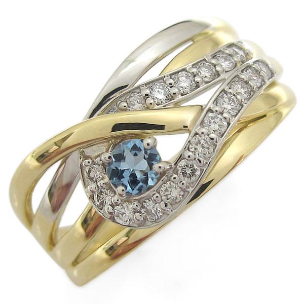 誕生石 ラインリング 指輪 18金 プラチナ コンビリング