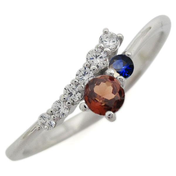 シンプル 指輪 ガーネット リング レディース プラチナ ホワイトデー プレゼント