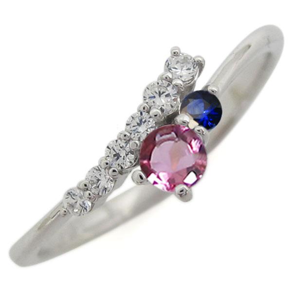 シンプル 指輪 ピンクトルマリン リング レディース プラチナ 母の日 プレゼント