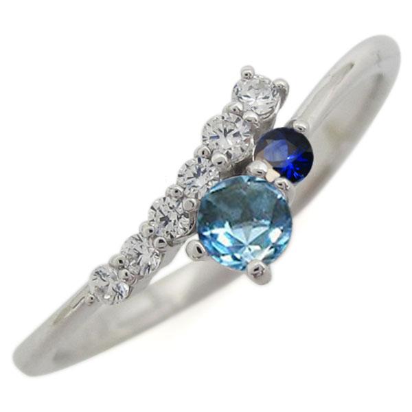 シンプル 指輪 ブルートパーズ リング レディース プラチナ 母の日 プレゼント