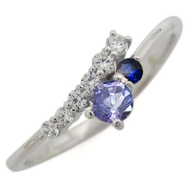 シンプル 指輪 タンザナイト リング レディース プラチナ 母の日 プレゼント