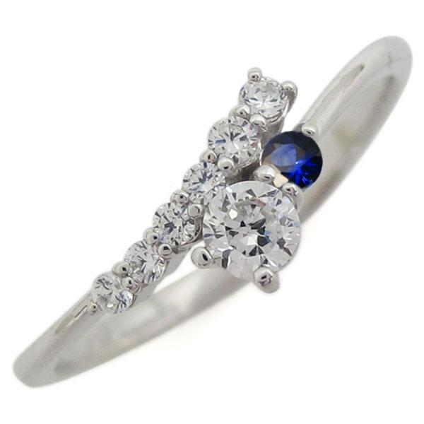 指輪 ダイヤモンド シンプル シルバー レディース リング