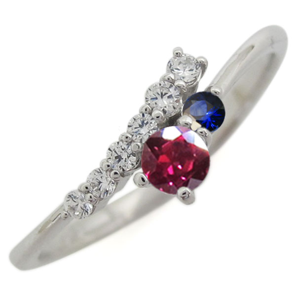 【10%OFF】4日20時~ シンプル 指輪 ルビー リング レディース プラチナ 母の日 プレゼント