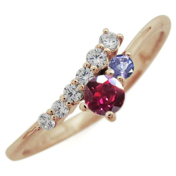 指輪 レディース おしゃれ ルビー リング シンプル 10金 母の日 プレゼント