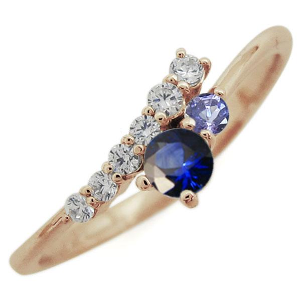 指輪 レディース おしゃれ サファイア リング シンプル 10金 母の日 プレゼント